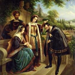 Пазл онлайн: Королева Исабелла и Колумб