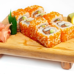 Пазл онлайн: Калифорния с лососем