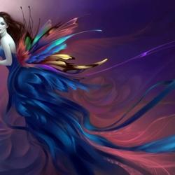 Пазл онлайн: Lady Butterfly / Леди бабочка