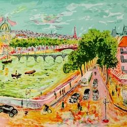 Пазл онлайн: Новый мост в Париже