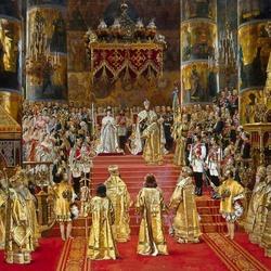 Пазл онлайн: Коронация императора Александра III и императрицы Марии Федоровны