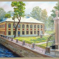 Пазл онлайн: Дворец Петра I в Летнем саду