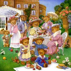 Пазл онлайн: Традиционный английский пикник