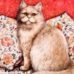 Пазл онлайн: Домашний кот