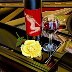 Пазл онлайн: Вино и музыка