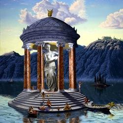 Пазл онлайн: Висок Афродиты