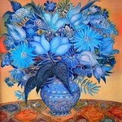 Пазл онлайн: Синий натюрморт