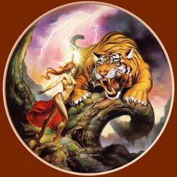 Пазл онлайн: Ярость тигра
