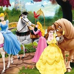 Пазл онлайн: Принцессы на конной прогулке