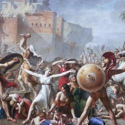 Пазл онлайн: Сабинянки, останавливающие битву между римлянами и сабинянами