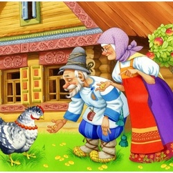 Пазл онлайн: Курочка-ряба