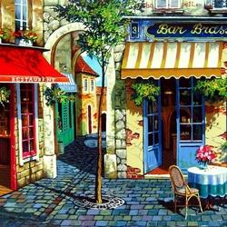 Пазл онлайн: Кафе в Провансе