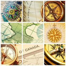 Пазл онлайн: Географический коллаж