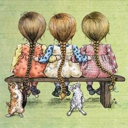 Пазл онлайн: Три косы