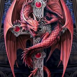 Пазл онлайн: Готический дракон