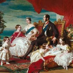 Пазл онлайн: Королевская семья в 1846