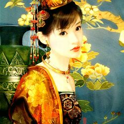 Пазл онлайн: Восточная красавица