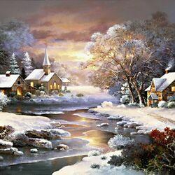 Пазл онлайн: Winter Church/Зимняя церковь