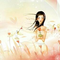 Пазл онлайн: Цветок любви