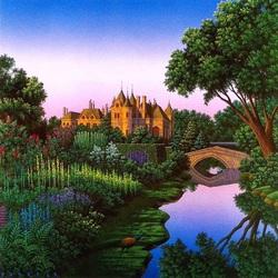 Пазл онлайн: Замок у реки