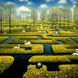 Пазл онлайн: Весенний лабиринт