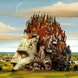 Пазл онлайн: Замок на голове