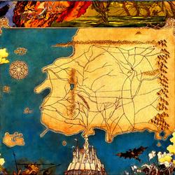 Пазл онлайн: Карта фантастической страны