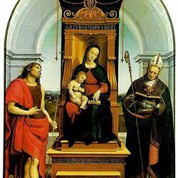 Пазл онлайн: Мадонна с Младенцем и Иоаном Крестителем