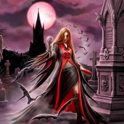 Пазл онлайн: Вампирша