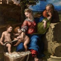 Пазл онлайн: Святое семейство под дубом
