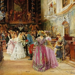Пазл онлайн: Свадьба