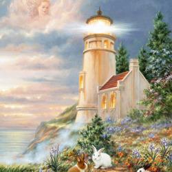 Пазл онлайн: Смотритель маяка