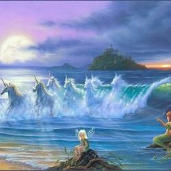 Пазл онлайн: Магические волны