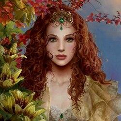 Пазл онлайн: Цветочная фея