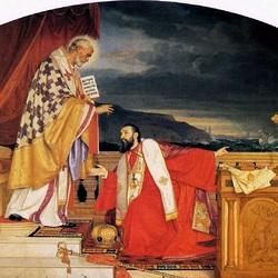 Пазл онлайн: Святой Николай и Патриарх Лукиан