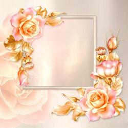 Пазл онлайн: Золотые розы