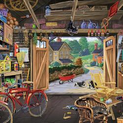 Пазл онлайн: Дедушкин гараж