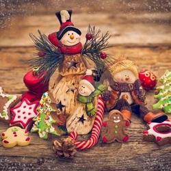 Пазл онлайн: Новогодние печеньки