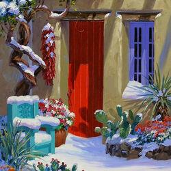 Пазл онлайн: Снежные декорации