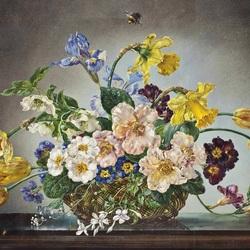 Пазл онлайн: Букет весенних цветов