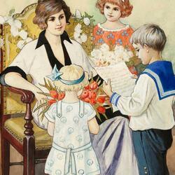 Пазл онлайн: День Матери