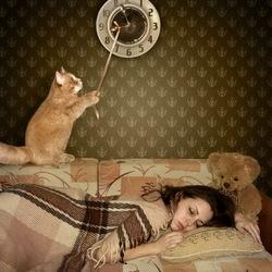 Пазл онлайн: Спи... я задержу подъём