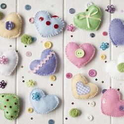 Пазл онлайн: Милые сердечки