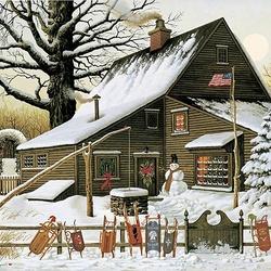 Пазл онлайн: Украшение к Рождеству