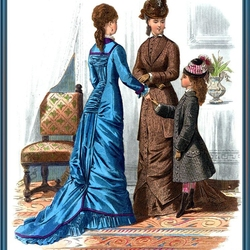 Пазл онлайн: Викторианская мода