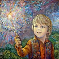 Пазл онлайн: Юный волшебник