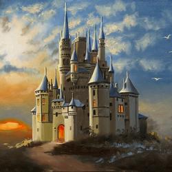 Пазл онлайн: Замок в облаках