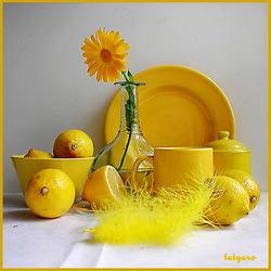 Пазл онлайн: Лимонное настроение