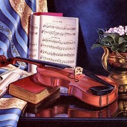 Пазл онлайн: Мелодия для скрипки