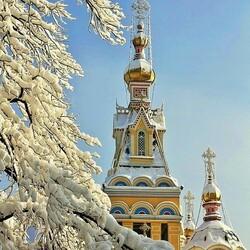 Пазл онлайн: Золотые купола
